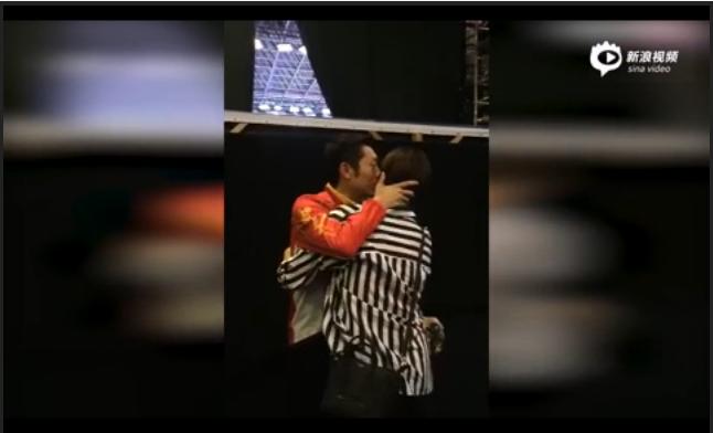 Screenshot of Xu Xin & Yao Yan from a video posted in Sina Sports.