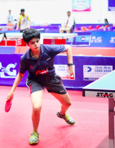 Host nation's Archana Kamath failed to progress to semi finals. Photo Courtesy : Aditya Gupta
