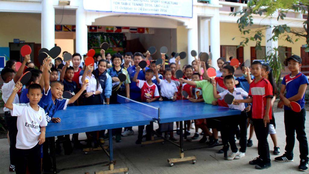 Local schoolchildren responded in numbers