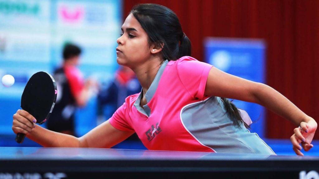 Single Event Girls Group Round 1 at the Sun International 2016 World Junior Table Tennis Championships. 30 Nov - 7 Dec 2016, Cape Town (RSA)