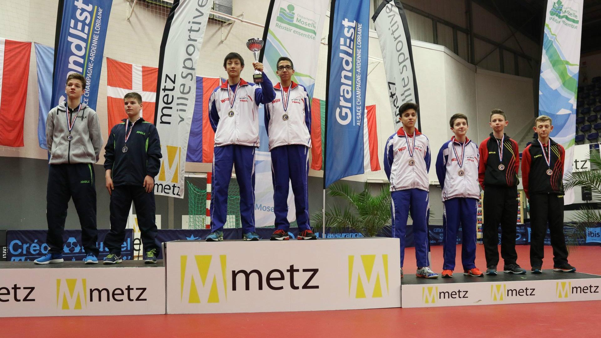 Cadet Boys' Team podium
