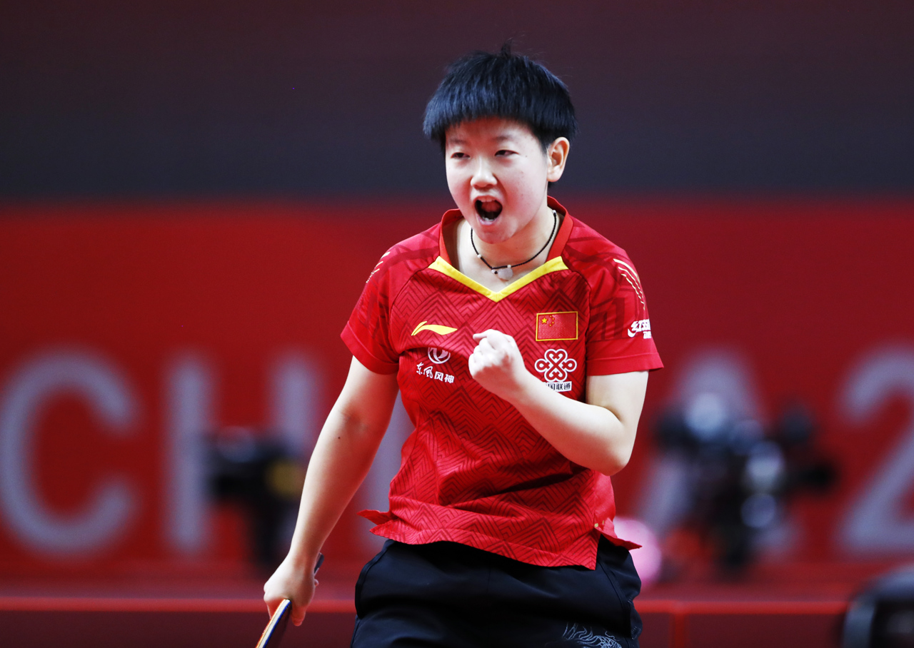 Sun Yingsha secures gold in Lingshui